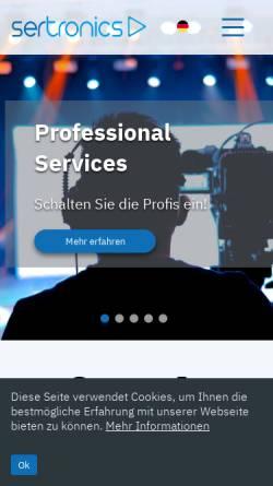 Vorschau der mobilen Webseite www.avc.de, AVC Audio Video Communication Service GmbH