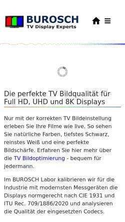 Vorschau der mobilen Webseite www.burosch.de, BUROSCH Audio-Video-Technik, Inh. Klaus, Steffen und Andreas Burosch