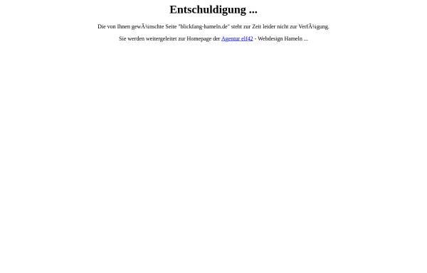 Vorschau von www.blickfang-hameln.de, Blickfang Frank Limbeck e.K.
