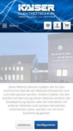 Vorschau der mobilen Webseite www.martin-kaiser.de, Martin Kaiser GmbH & Co. KG