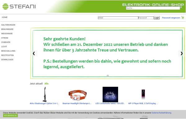 Vorschau von www.stefani.shop, Stefani Elektronik Handels Ges.m.b.H.