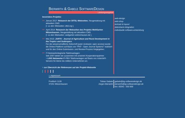 Vorschau von uni-sql.de, Bierwirth & Gabele SoftwareDesign GbR