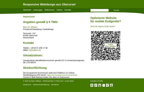 Vorschau von www.wibben.de, Björn M. Wibben