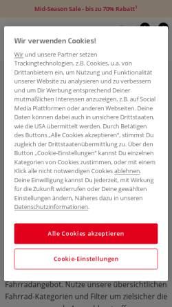 Vorschau der mobilen Webseite www.bike-community.de, Bike-Community