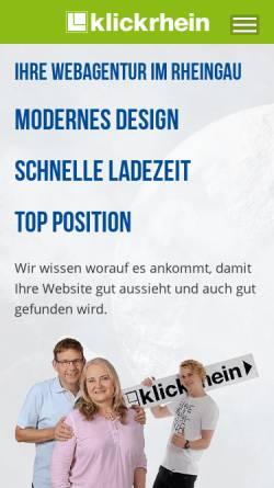 Vorschau der mobilen Webseite www.klickrhein.de, klickrhein
