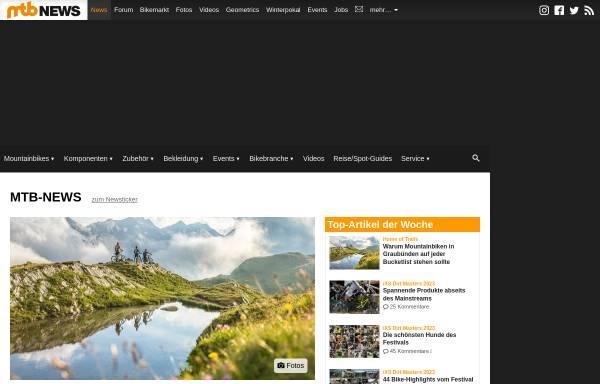 Vorschau von www.mtb-news.de, Internet Bike Community
