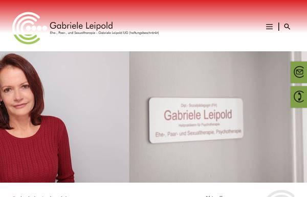 Vorschau von www.paartherapie-leipold.de, Heilpraktikerin für Psychotherapie Gabriele Leipold UG