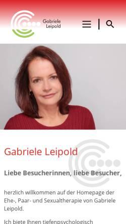 Vorschau der mobilen Webseite www.paartherapie-leipold.de, Heilpraktikerin für Psychotherapie Gabriele Leipold UG