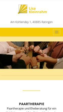 Vorschau der mobilen Webseite www.lisa-kleinrahm.de, Lisa Kleinrahm