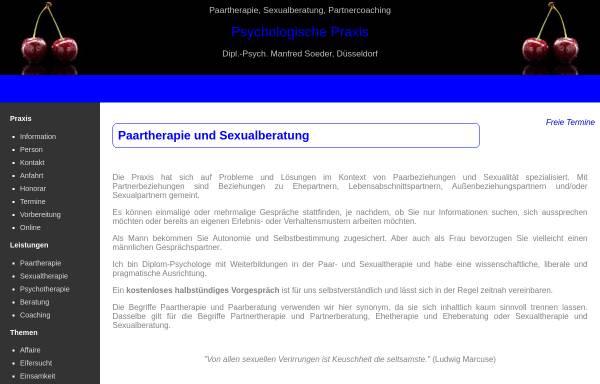 Vorschau von www.manfred-soeder.de, Manfred Soeder, Dipl.-Psych. - Praxis für Paartherapie und Eheberatung