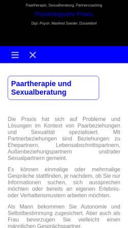 Vorschau der mobilen Webseite www.manfred-soeder.de, Manfred Soeder, Dipl.-Psych. - Praxis für Paartherapie und Eheberatung
