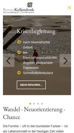 Vorschau der mobilen Webseite schreibabyambulanz-koeln.com, Renate Kellendonk