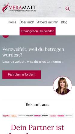 Vorschau der mobilen Webseite paartherapeut-in.de, Vera Matt