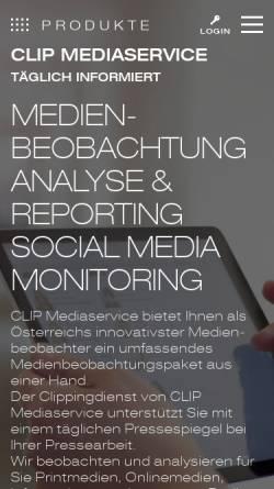 Vorschau der mobilen Webseite www.clip.at, Clip Mediaservice Ges.m.b.H.