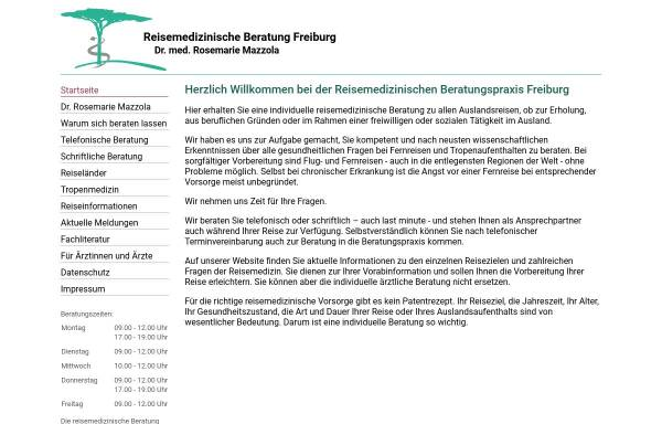Vorschau von www.tropenmedizin.de, Tropen- und Reisemedizinische Beratung