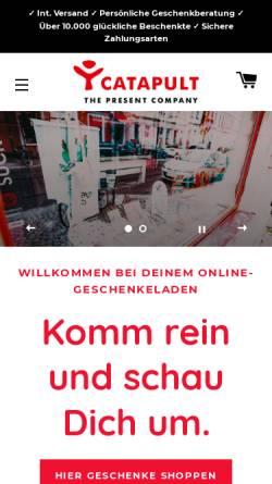 Vorschau der mobilen Webseite www.catapult.de, Catapult GmbH