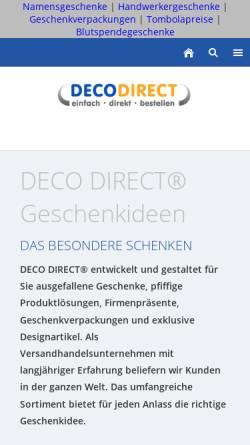 Vorschau der mobilen Webseite www.deco-direct.de, Deco Direct Marketing GmbH