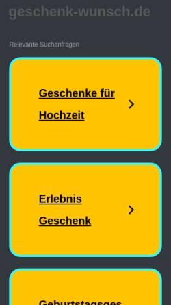 Vorschau der mobilen Webseite www.geschenk-wunsch.de, Dekopack-Ass, Inh. Mechthilde Vollmer