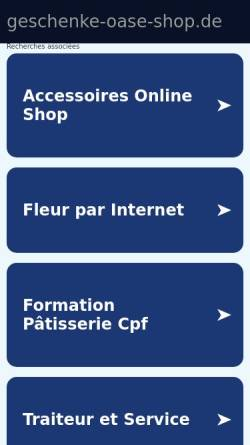 Vorschau der mobilen Webseite www.geschenke-oase-shop.de, Geschenk Oase, Inh. Gisela Brinkmann