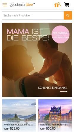 Vorschau der mobilen Webseite www.geschenkidee.ch, Geschenkidee.ch