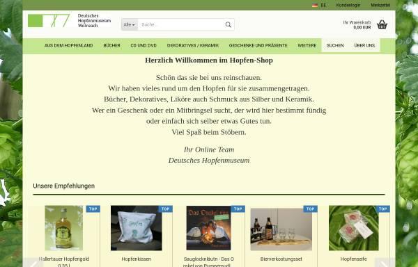 Vorschau von www.hopfenshop.de, Hopfen-Shop, PAF-Creativ