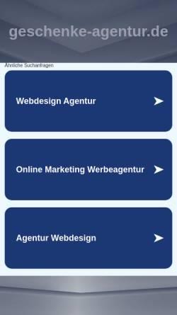 Vorschau der mobilen Webseite www.geschenke-agentur.de, Millefiori