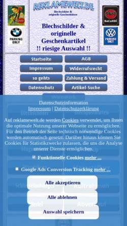 Vorschau der mobilen Webseite www.reklamewelt.de, Reklamewelt