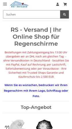 Vorschau der mobilen Webseite www.online-geschenk.de, RS-Versand