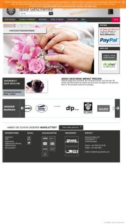 Vorschau der mobilen Webseite www.tolle-geschenke.com, Ypsilon* - Tanja Schönberger