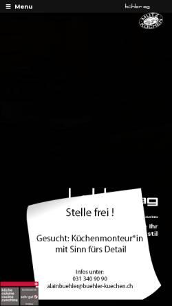 Vorschau der mobilen Webseite www.buehler-kuechen.ch, Bühler AG