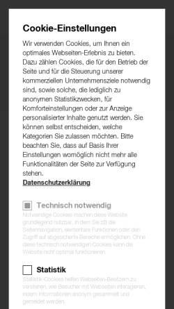 Vorschau der mobilen Webseite www.haka.at, HAKA Küche GmbH