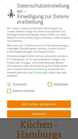 Vorschau der mobilen Webseite www.hummel.de, Hummel Küchenwerk GmbH