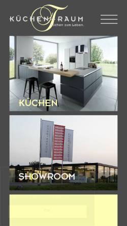 Vorschau der mobilen Webseite www.kuechentraum.ch, Küchen + Raum AG