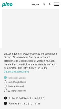 Vorschau der mobilen Webseite www.pino-kuechen.de, Pino Küchen GmbH