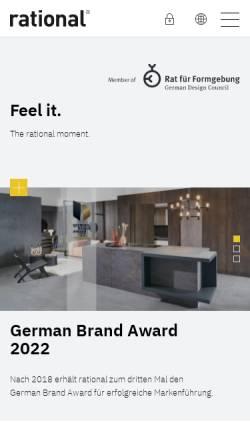 Vorschau der mobilen Webseite www.rational.de, Rational Einbauküchen GmbH