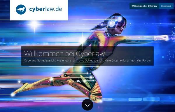 Vorschau von www.cyberlaw.de, Cyberlaw - Informationsseiten der Rechtsanwaltskanzlei Gaiser
