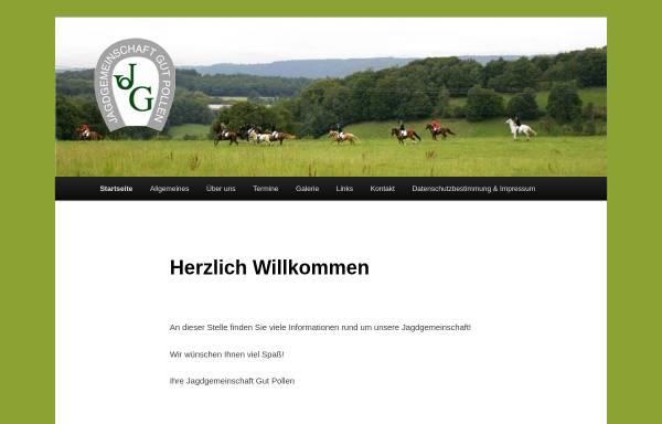 Vorschau von www.jagdgemeinschaft.de, Jagdgemeinschaft Gut Pollen