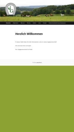 Vorschau der mobilen Webseite www.jagdgemeinschaft.de, Jagdgemeinschaft Gut Pollen