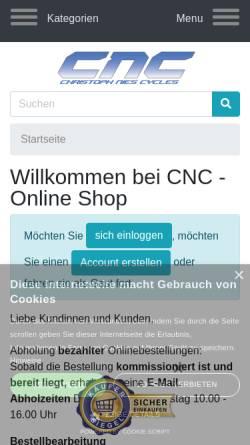Vorschau der mobilen Webseite www.cnc-bike.de, Christoph Nies Cycles