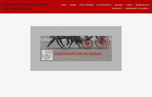 Vorschau von www.gespannfahren.ch, Fahrsportgruppe Bern