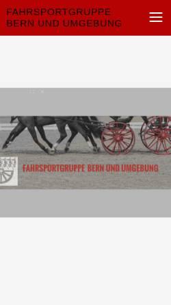 Vorschau der mobilen Webseite www.gespannfahren.ch, Fahrsportgruppe Bern