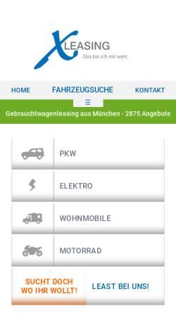 Vorschau der mobilen Webseite www.x-leasing.de, X-Leasing GmbH