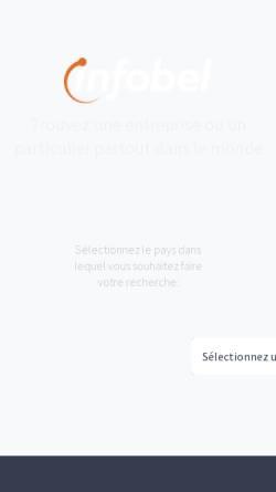 Vorschau der mobilen Webseite www.infobel.com, Infobel Telefonkataloge
