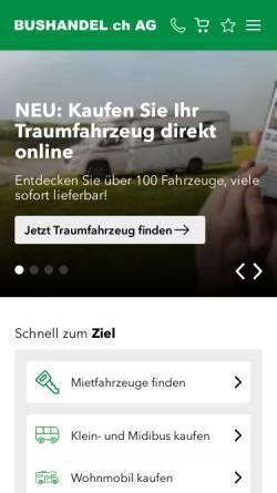 Vorschau der mobilen Webseite www.bushandel.ch, Bushandel.ch GmbH
