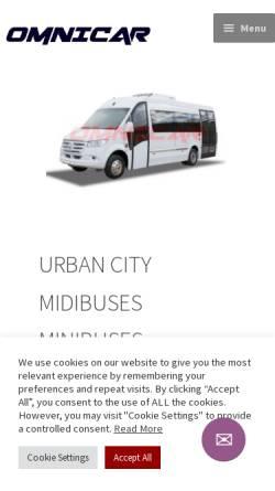 Vorschau der mobilen Webseite omnicar.eu, Omnicar Ltd.
