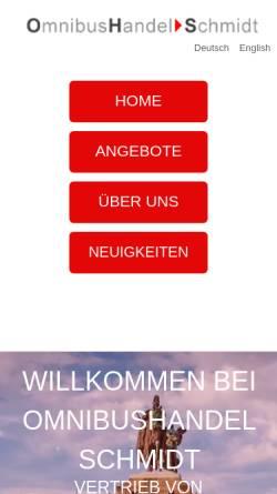 Vorschau der mobilen Webseite www.ohsschmidt.com, Schmidt, Franz