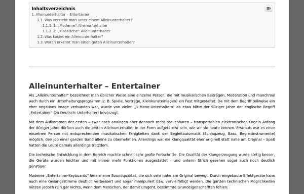 Vorschau von www.alleinunterhalter-entertainer.de, Alleinunterhalter & Entertainer