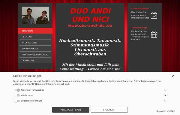 Vorschau von www.alleinunterhalter-andi.com, Alleinunterhalter Andi