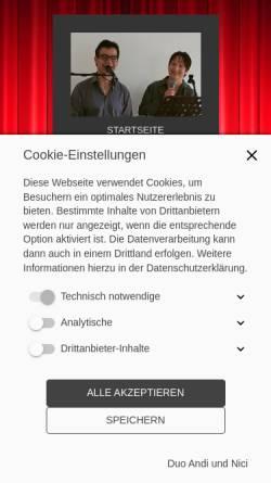 Vorschau der mobilen Webseite www.alleinunterhalter-andi.com, Alleinunterhalter Andi