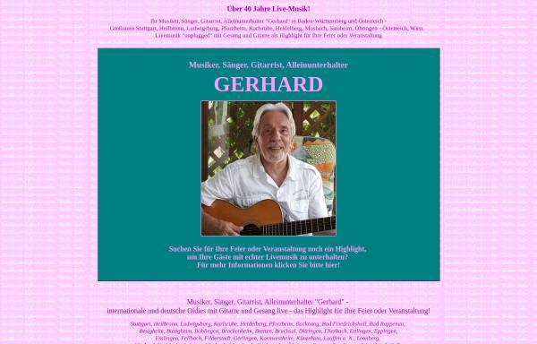 Vorschau von www.gerhard-musik.de, Alleinunterhalter Gerhard